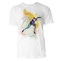 Eisschnelllauf Sinus Art ® T-Shirt Crewneck Tee with Frontartwork