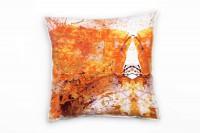 Couch Sofa Lounge Zierkissen in 40x40cm Orangerot Lila Weiß Schwarzrot