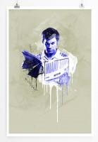 Dexter Morgan 90x60cm Paul Sinus Art Splash Art Wandbild als Poster ohne Rahmen gerollt