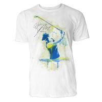 Golfer mit Hut Sinus Art ® T-Shirt Crewneck Tee with Frontartwork
