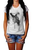 Anna Trosko Herren und Damen T-Shirt BLACK-WHITE