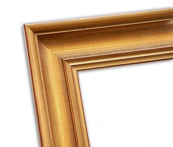 Klassisch in Gold patinierter Rahmen mit Rot Braunen Highlights