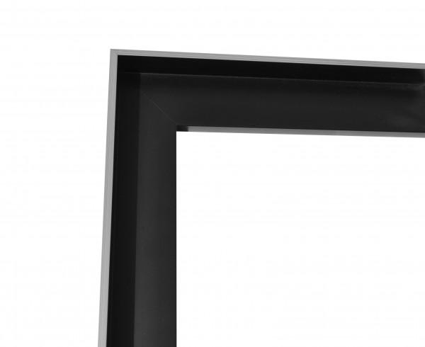 Schattenfuge XXL matt Schwarz mit schmaler Sichtkante in Silber