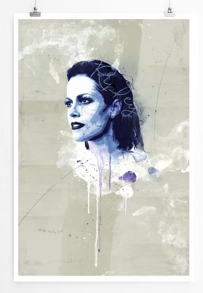 Alien 90x60cm Paul Sinus Art Splash Art Wandbild als Poster ohne Rahmen gerollt