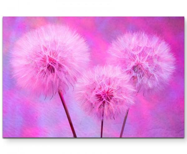 Abstrakte Pusteblumen in Pink - Leinwandbild