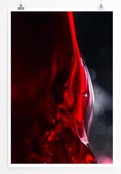 Künstlerische Fotografie – Rotwein Nahaufnahme 60x90cm Poster