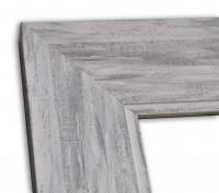 Breite Shabby Chic Rahmenleiste in Grau modern