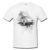 VW Kaefer Herren und Damen T-Shirt BLACK-WHITE