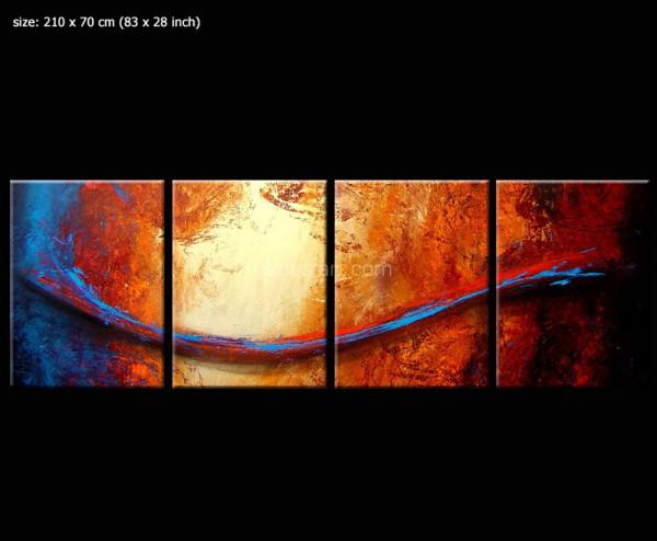 alcanor1 - originelles Gemälde rot braun blau