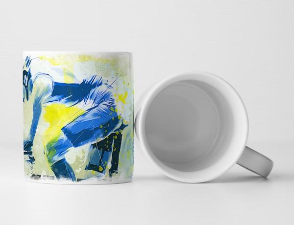 Radsport Tasse als Geschenk, Design Sinus Art