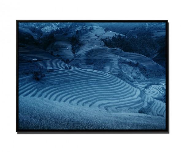 105x75cm Leinwandbild Petrol Landschaft Bali