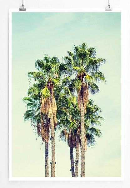 Vintage Palmen in Los Angeles 60x90cm Poster