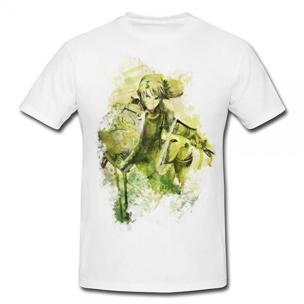 Zelda Premium Herren und Damen T-Shirt Motiv aus Paul Sinus Aquarell