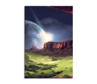 Lights On The Moon Fantasy Art 90x60cm