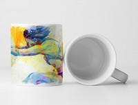 Weitsprung I Tasse als Geschenk,  Design Sinus Art