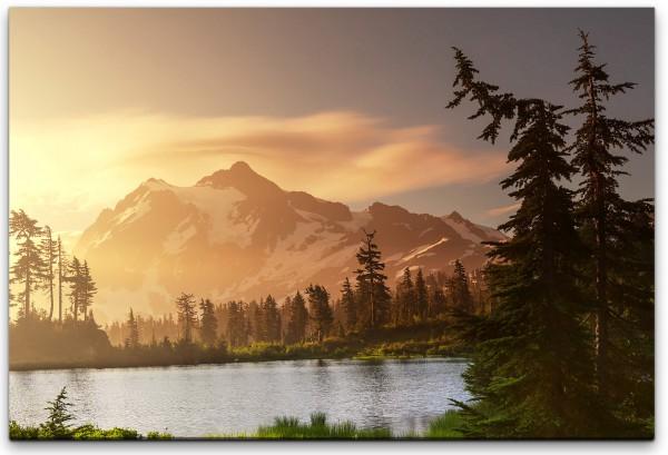 Berge mit Seen Wandbild in verschiedenen Größen