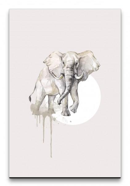 Elefant Afrika Aquarell Schön Modern Wasserfarben Rosa Kunstvoll