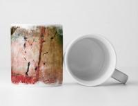 Tasse Geschenk Sepia + Farbspritzer in schwarz