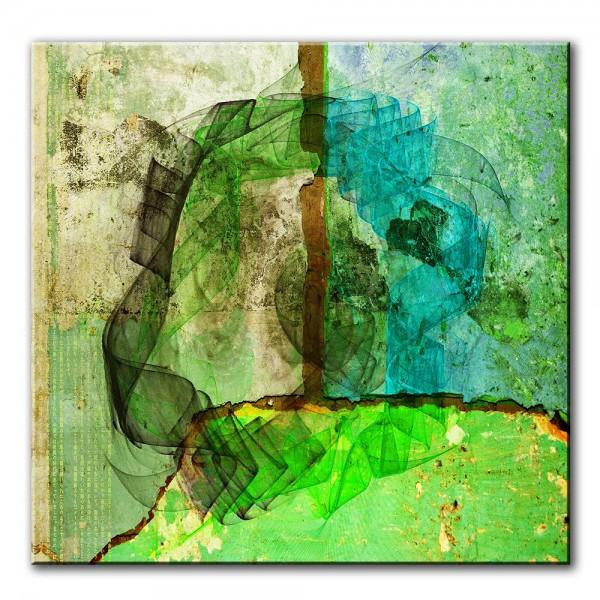 Bergsicht, abstrakt, 60x60cm