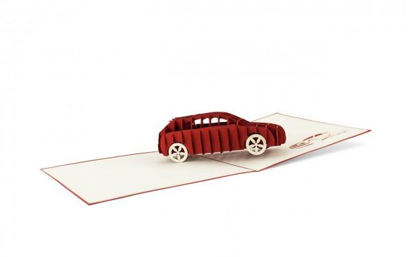 Auto Grußkarte Größe: 15x15cm