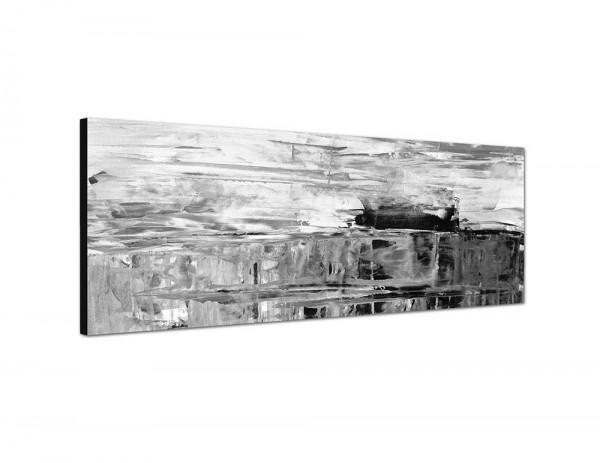 150x50cm Malerei Kunst grau braun abstrakt