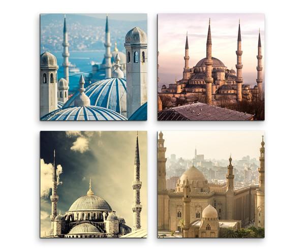 4 teiliges Leinwandbild je 30x30cm  -  Moschee Jerusalem