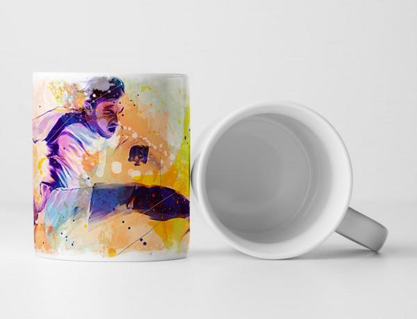 Fussball I Tasse als Geschenk, Design Sinus Art