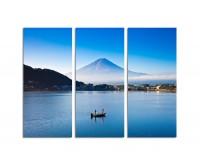130x90cm Berg Fuji See Abendsonne