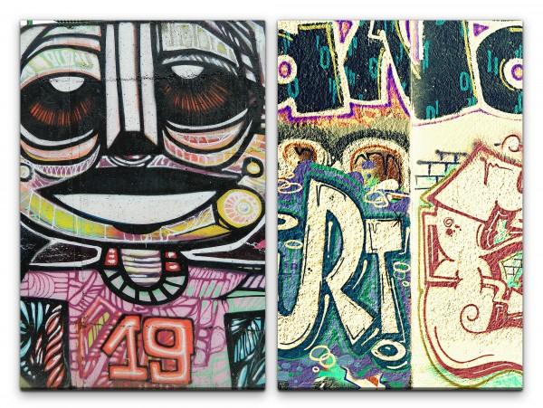 2 Bilder je 60x90cm Street Art Graffiti New York Hip Hop Berlin Wand Straßenkunst