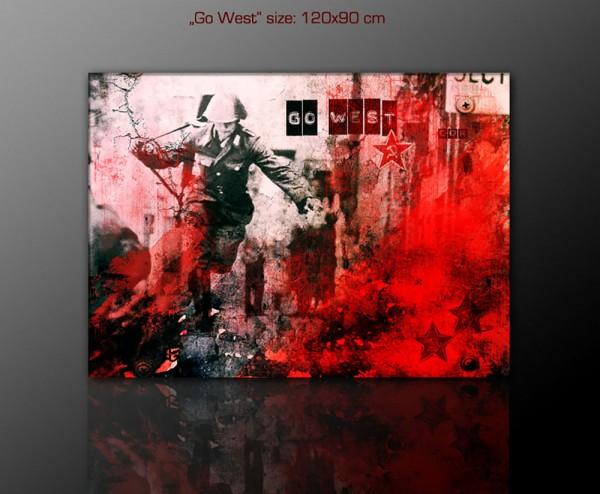 Go West 120 x 90 cm