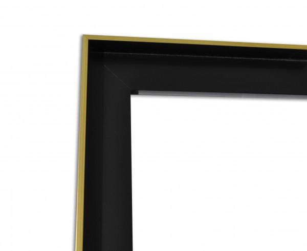 Schattenfuge XXL matt Schwarz mit schmaler Sichtkante in Gold
