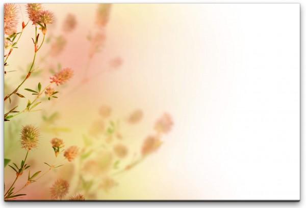 pastellfarbene Blumen Wandbild in verschiedenen Größen