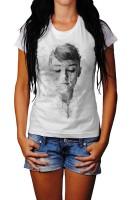 Audrey Hepburn Herren und Damen T-Shirt BLACK-WHITE