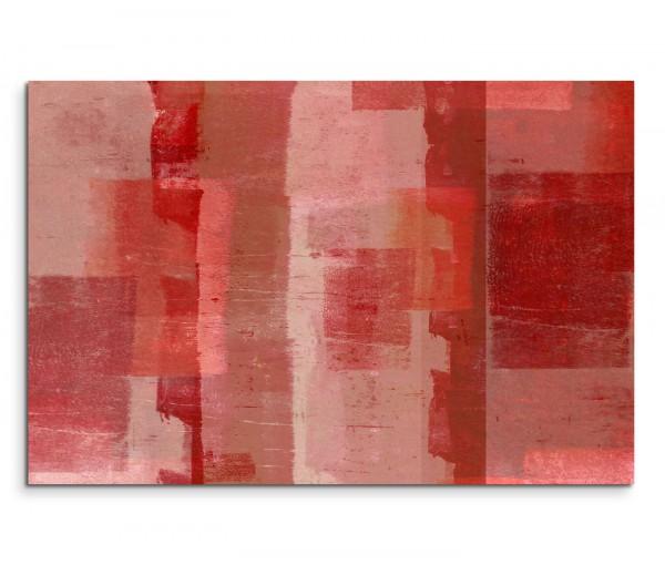 120x80cm Wandbild Hintergrund Kunst rot beige