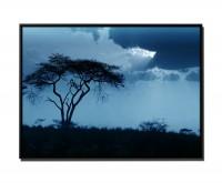 105x75cm Leinwandbild Petrol Sonnenuntergang Afrika III