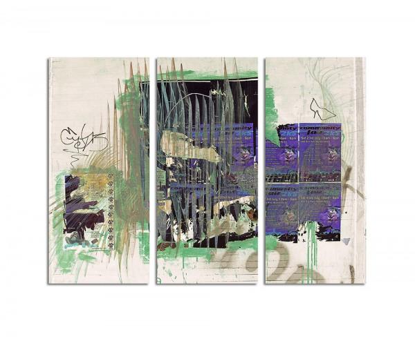 130x90cm Wandbild Abstrakt176 -3x90x40cm