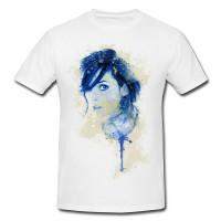 Winona Ryder I Premium Herren und Damen T-Shirt Motiv aus Paul Sinus Aquarell