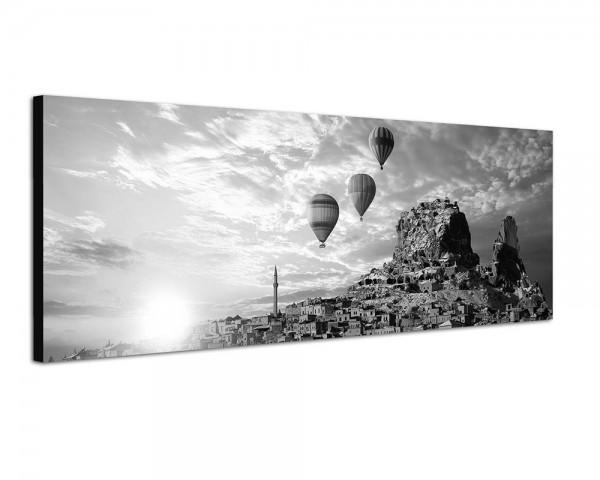 150x50cm Italien Stadt Berg Heißluftballons Sonne