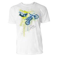 Motocross Sinus Art ® T-Shirt Crewneck Tee with Frontartwork