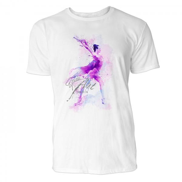 Ballerina Hebefigur Sinus Art ® T-Shirt Crewneck Tee with Frontartwork