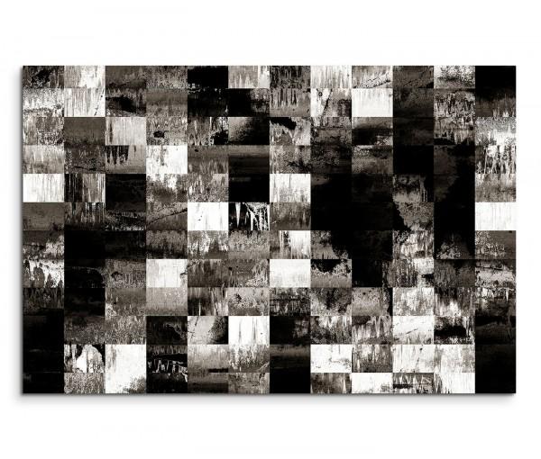 120x80cm Wandbild Hintergrund Geometrie abstrakt schwarz grau weiß