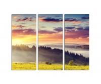 130x90cm Sonnenuntergang Karpaten Berge Wolken