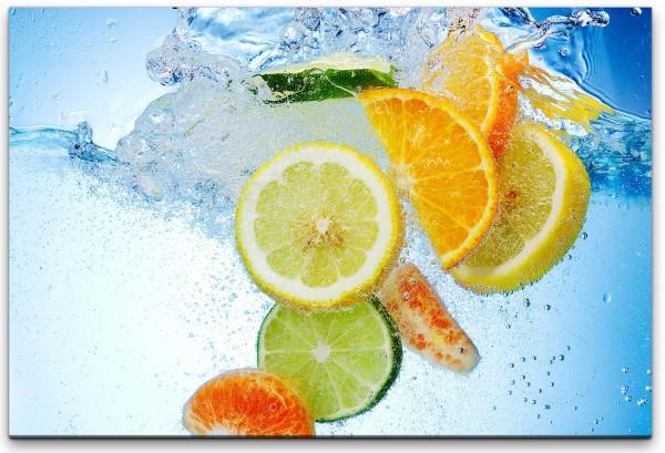 Früchte im Wasser Wandbild in verschiedenen Größen