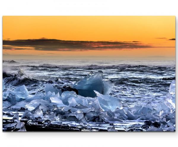Jokusarlon Island – Landschaft im Eis - Leinwandbild