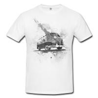 VW Bus T1 Herren und Damen T-Shirt BLACK-WHITE