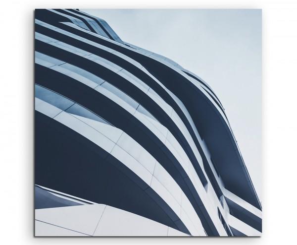 Architekturfotografie – Gebäude in Mailand auf Leinwand