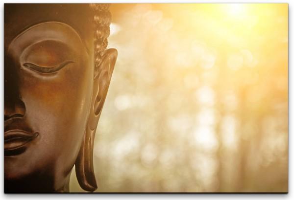 Kopf einer Buddhafigur Wandbild in verschiedenen Größen