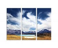 130x90cm Tal Berge See Argentinien Wind