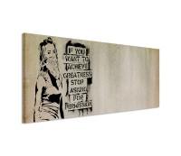 Graffiti Slogan Street Art 150x50cm