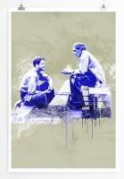 Die Verurteilten 90x60cm Paul Sinus Art Splash Art Wandbild als Poster ohne Rahmen gerollt